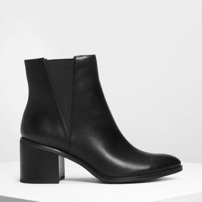 クラシック ブロックヒールブーツ / Classic Block Heel Boots (Black)