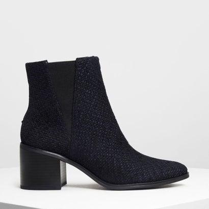 クラシック ブロックヒールブーツ / Classic Block Heel Boots (Dark Blue)