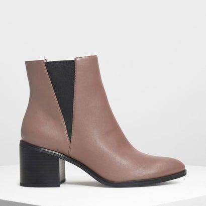 クラシック ブロックヒールブーツ / Classic Block Heel Boots (Mauve)