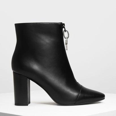 ジッパー カーフブーツ / Zipper Calf Boots (Black)