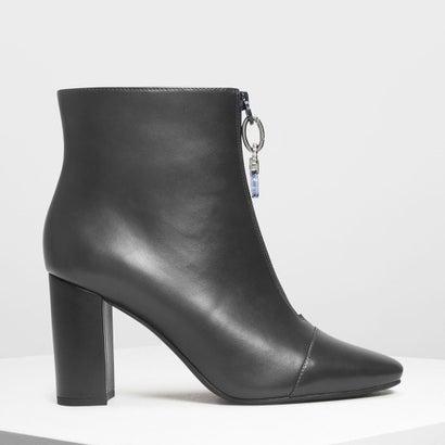 ジッパー カーフブーツ / Zipper Calf Boots (Grey)