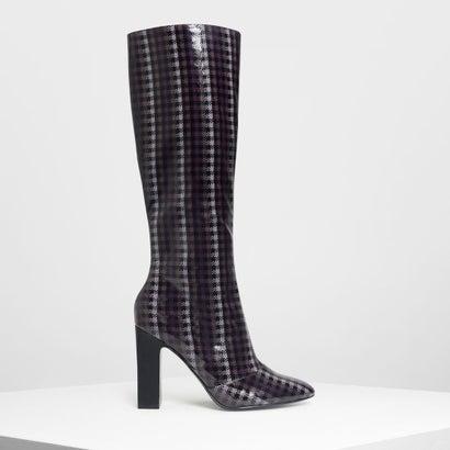 クラシック ニーブーツ / Classic Knee Boots (Purple)