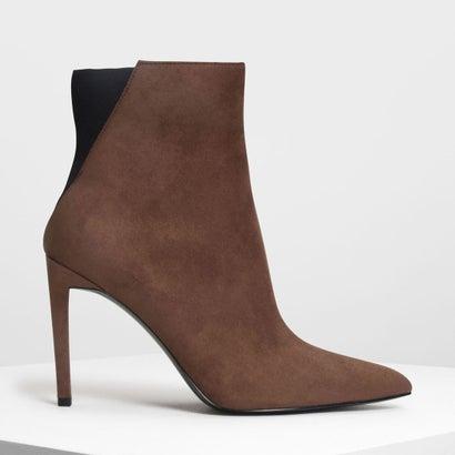 ポインテッドスティレット カーフブーツ / Pointed Stiletto Calf Boots (Mauve)