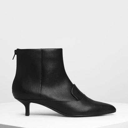 ローファーディテール アンクルブーツ / Loafer Detail Ankle Boots (Black)