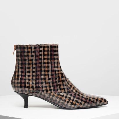 ローファーディテール アンクルブーツ / Loafer Detail Ankle Boots (Brown)