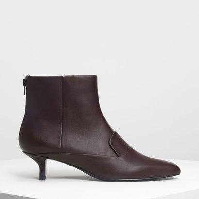 ローファーディテール アンクルブーツ / Loafer Detail Ankle Boots (Purple)