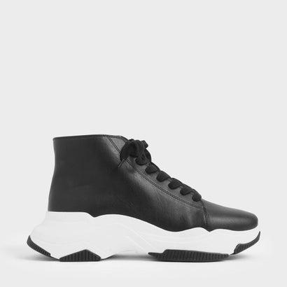 【再入荷】レーズアップ チャンキースニーカー / Lace-Up Chunky Sneakers (Black)