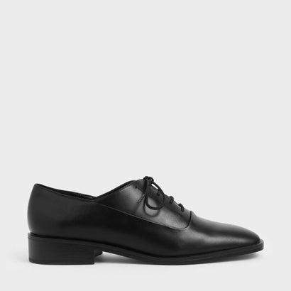 【再入荷】スクエアトゥ オックスフォードシューズ / Square Toe Oxford Shoes (Black)