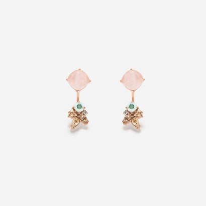 セミプレシャスストーンピアス / SEMI-PRECIOUS STONES PIERCED EARRINGS(Pink)