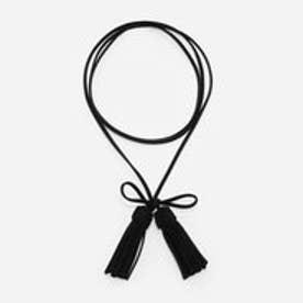 タッセルラップチョーカー / TASSLE WRAP CHOKER (Black)