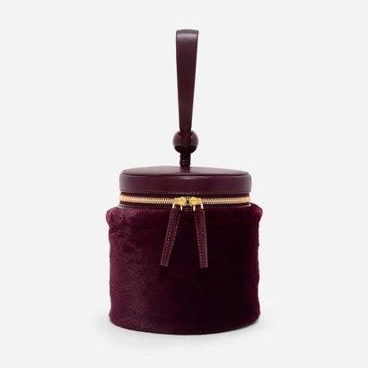 ファーリーバケツバッグ / FURRY BUCKET BAG (Burgundy)