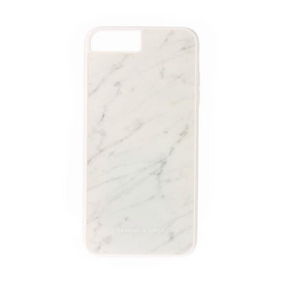 マーブルプリントIPHONEカバー / MARBLE PRINT IPHONE COVER (White)