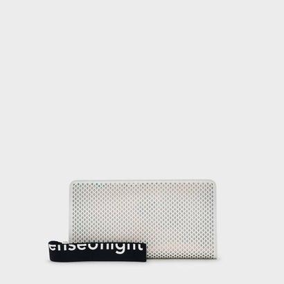 メッシュディテールロングウォレット / MESH DETAIL LONG WALLET (White)