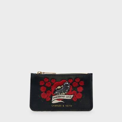 デンジャラスラブエンベリッシュカードフォルダー / DANGEROUS LOVE EMBELLISHED CARD HOLDER (Black)