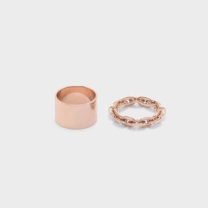 チェーンディテールリングセット / CHAIN DETAIL RING SET (Rose Gold)