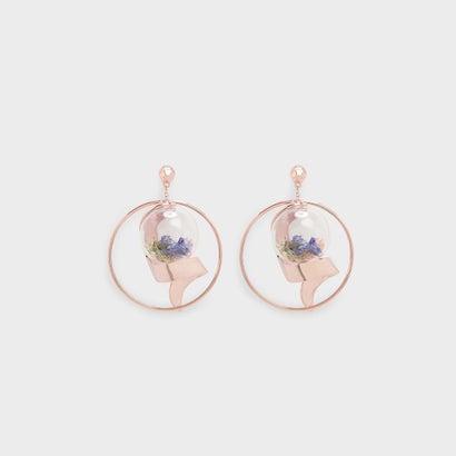 フローラル ボォーブル ピアス / FLORAL BAUBLE EARRINGS (Rose Gold)