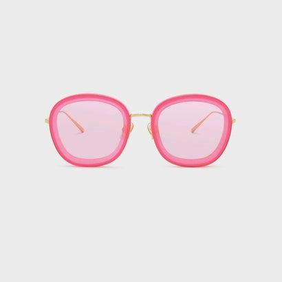 アセテートバタフライフレームシェイド / ACETATE BUTTERFLY FRAME SHADES (Pink)