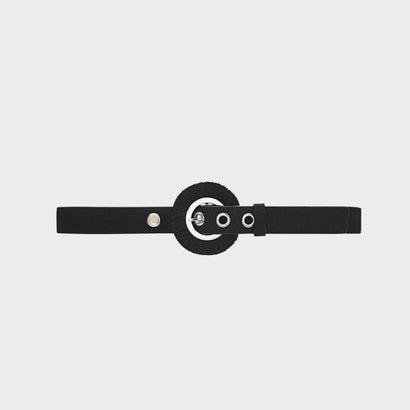 フリンジディテールバックルベルト / FRINGE DETAIL BUCKLE BELT (Black)