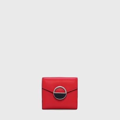 サーキュラーバックルスモールウォレット / CIRCULAR BUCKLE SMALL WALLET (Red)