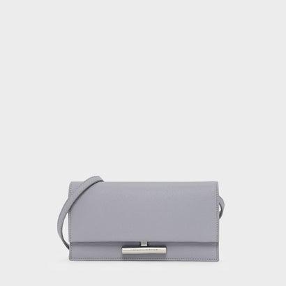 メタルアクセントロングウォレット / METAL ACCENT LONG WALLET (Lilac Grey)