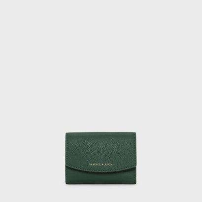フロントフラップショートウォレット / FRONT FLAP SHORT WALLET (Dark Green)