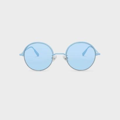 メタル ハーフフレーム サングラス / METAL HALF FRAME SUNGLASSES (Blue)