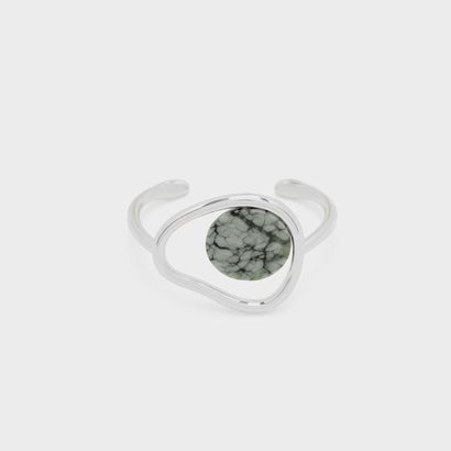 セミプレシャスストーンカフバングル / SEMI-PRECIOUS STONE CUFF BANGLE (Grey)