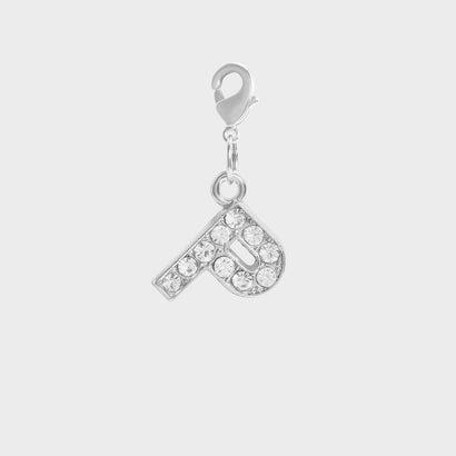 クリスタル エンベリッシュド アルファベット チャーム P / Crystal Embellished Alphabet Charm - P (