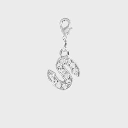 クリスタル エンベリッシュド アルファベット チャーム S / Crystal Embellished Alphabet Charm - S (