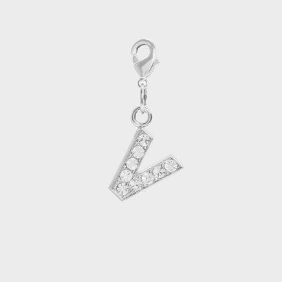 クリスタル エンベリッシュド アルファベット チャーム V / Crystal Embellished Alphabet Charm - V (
