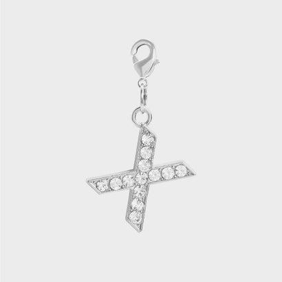 クリスタル エンベリッシュド アルファベット チャーム X / Crystal Embellished Alphabet Charm - X (