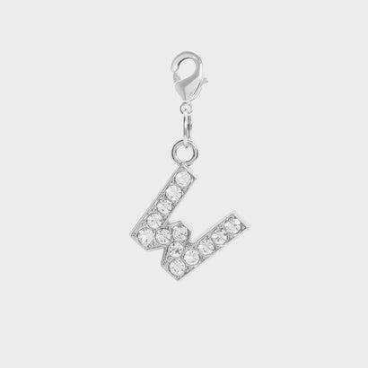 クリスタル エンベリッシュド アルファベット チャーム W / Crystal Embellished Alphabet Charm - W (