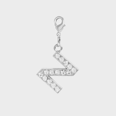 クリスタル エンベリッシュド アルファベット チャーム Z / Crystal Embellished Alphabet Charm - Z (