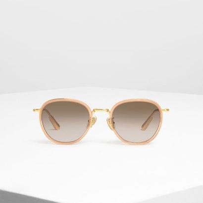 セミプレシャス ストーン サングラス / Semi-Precious Stone Sunglasses (Pink)