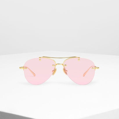 フレームレス アビエイター / Frameless Aviators (Pink)
