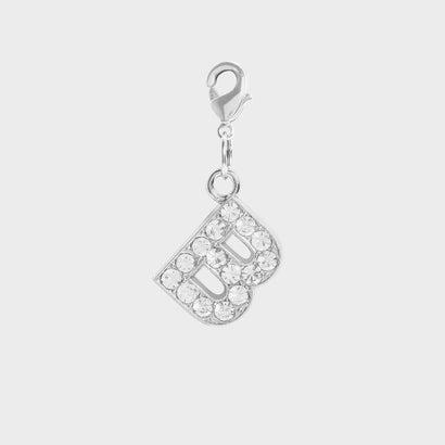 クリスタル エンベリッシュド アルファベット チャーム B / Crystal Embellished Alphabet Charm - B (
