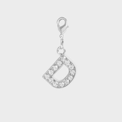 クリスタル エンベリッシュド アルファベット チャーム D / Crystal Embellished Alphabet Charm - D (