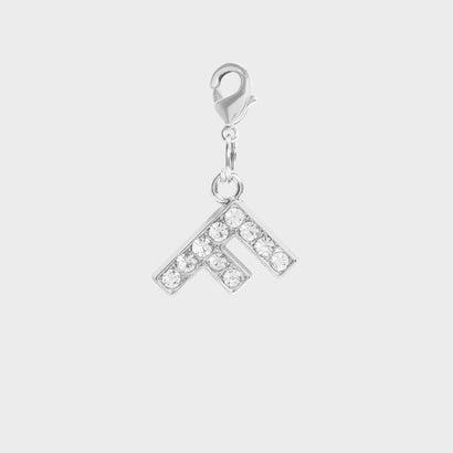 クリスタル エンベリッシュド アルファベット チャーム F / Crystal Embellished Alphabet Charm - F (