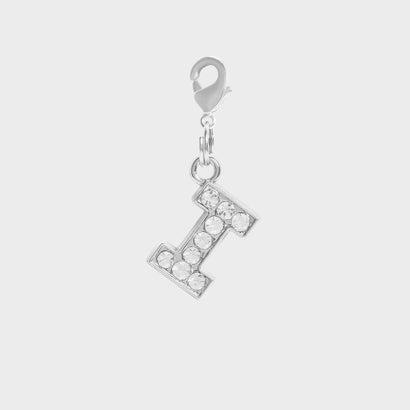 クリスタル エンベリッシュド アルファベット チャーム I / Crystal Embellished Alphabet Charm - I (