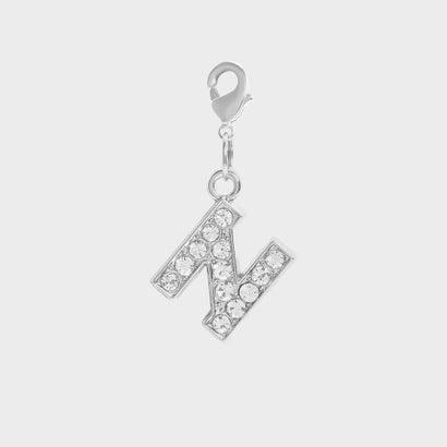 クリスタル エンベリッシュド アルファベット チャーム N / Crystal Embellished Alphabet Charm - N (