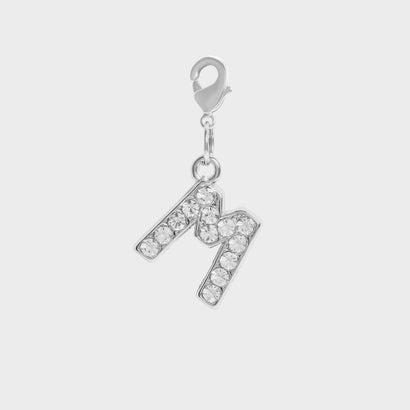 クリスタル エンベリッシュド アルファベット チャーム M / Crystal Embellished Alphabet Charm - M (