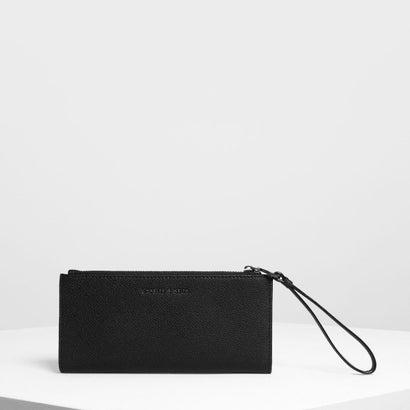 リスレット ハンドル ウォレット / Wristlet Handle Wallet (Black)