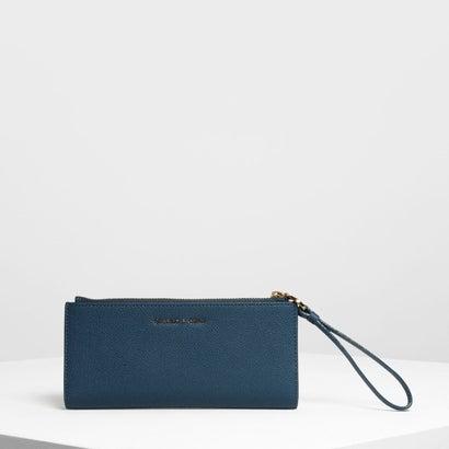 リスレット ハンドル ウォレット / Wristlet Handle Wallet (Blue)