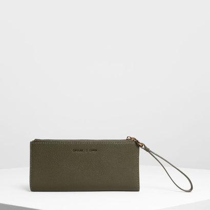リスレット ハンドル ウォレット / Wristlet Handle Wallet (Olive)