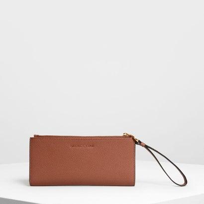 リスレット ハンドル ウォレット / Wristlet Handle Wallet (Cognac)