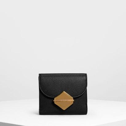 メタリックアクセント ウォレット / Metallic Accent Wallet (Black)