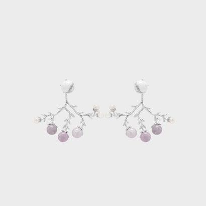 セミプレシャス ストーンピアス / Semi-Precious Stone Earrings (White)