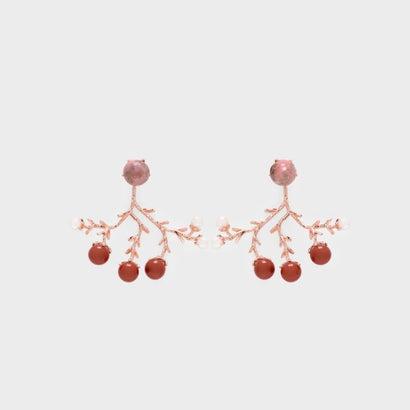 セミプレシャス ストーンピアス / Semi-Precious Stone Earrings (Red)