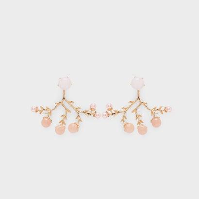 セミプレシャス ストーンピアス / Semi-Precious Stone Earrings (Pink)