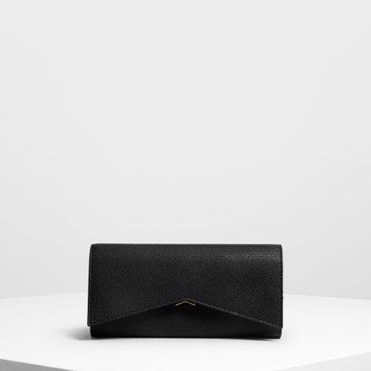 メタリックアクセント ロングウォレット / Metallic Accent Long Wallet (Black)